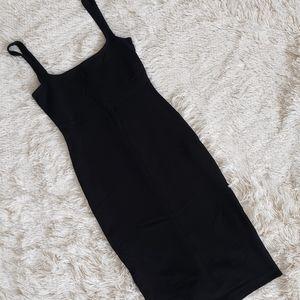 American Apparel black midi dress